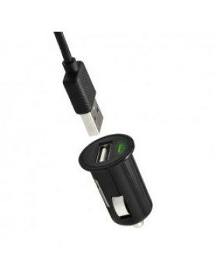 Autonabíjačka na mobil USB 1A čierna, kábel micro USB 1,5 m | Duntel