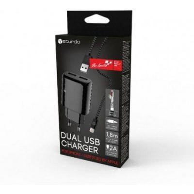 Sieťová nabíjačka 2v1  Micro USB | Duntel