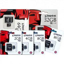 Kingston Memory Card Micro SD 16-32-64-128-256 GB   Duntel